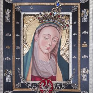 Obraz Matki Bożej Cierpliwie Słuchającej – malowany ręcznie