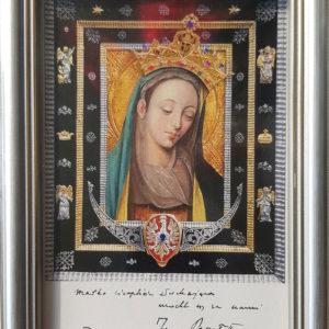 Obrazek Matki Bożej Cierpliwie Słuchającej – duży